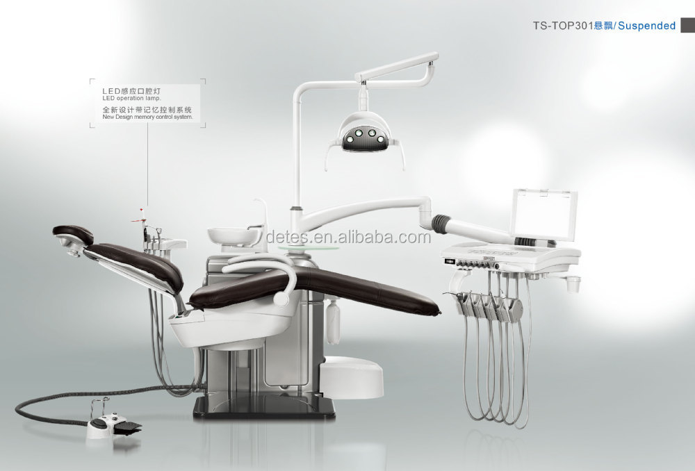 2015 Brand New Dental Chair TOP301Suspended with Faro LED lamp