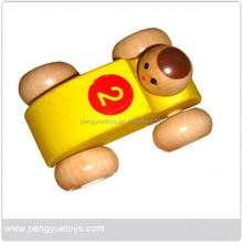 Wooden toys-mini smart car toy for kids
