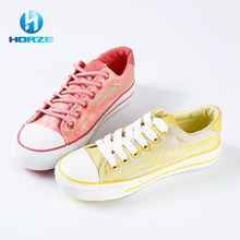 High Quality Rubber Soles China Campus Canvas Shoes / Women Flat Shoes Ladies