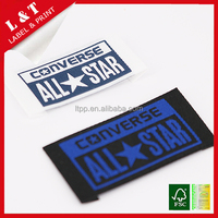 washable cheap woven clothing label custom clothing labels for T-shirt garment tag hat woven lables