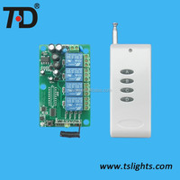 Long transmitter distance of 4 Channel RF wireless remote control light switch