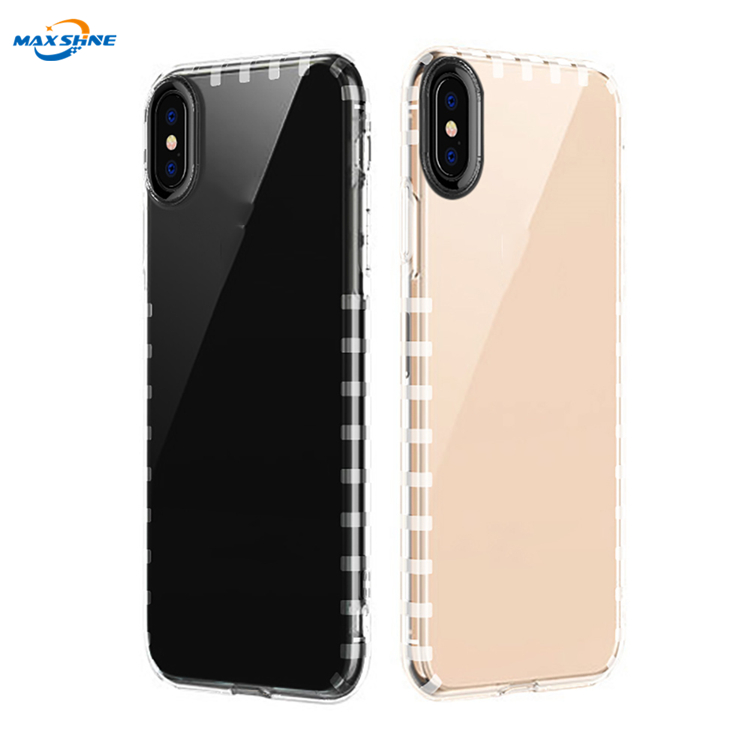 Maxshine Clear View Shockproof Tpu Phone Case Cover For Iphone 6 7 8 Plus X Xr Xs Max