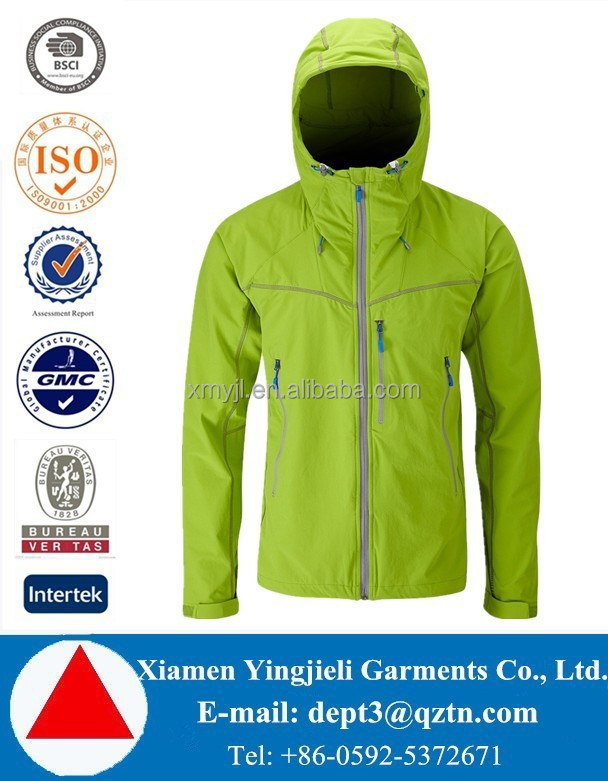 Top Design! Green Fashion Softshell Jacket - Men's
