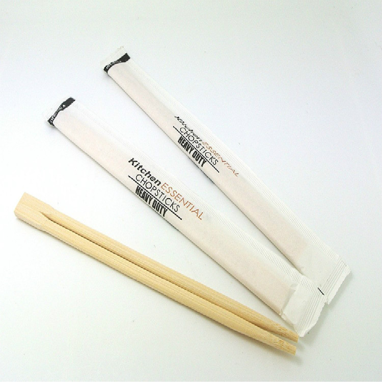 Paper wrapped bamboo chopsticks or sushi fast food