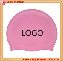 Waterproof silicone nude swimming cap custom print for adult