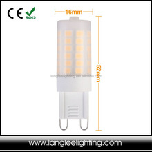 New ! Ceramic+Glue led lights 4w 400lm lamps g9