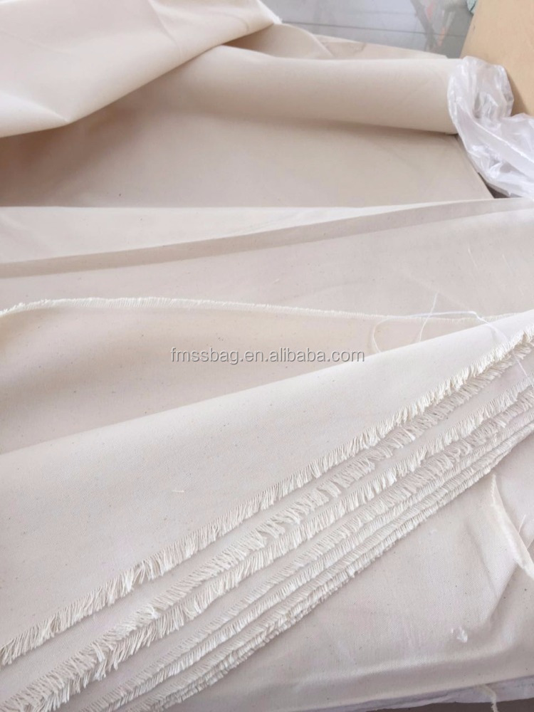 Promotional China Natural Color Raw Cotton Canvas Fabric Plain Canvas Cloth Wholesale