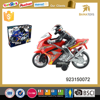 Hot sale plastic inertial toy with man cross motorcycle