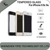 Titanium Metal Full Cover Tempered Glass Screen Protector For iPhone 5 5c 5s OEM/ODM