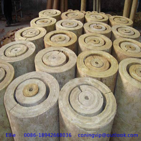 High quality rock wool pipe for heat insulation of various for High density mineral wool