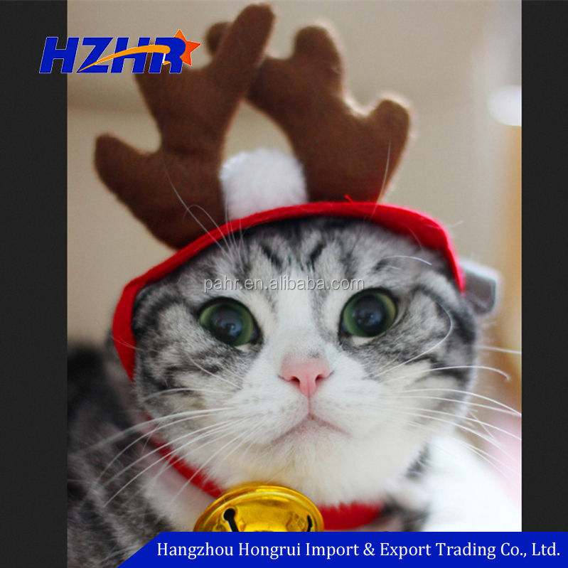 Cat Costumes Christmas Buckhorn Hat Headband Pet Deer Hats Teddy Dog Antlers Christmas headband For Cat Dog