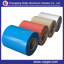 1050 1060 3003 coated aluminum roofing coil in white blue black brown colour