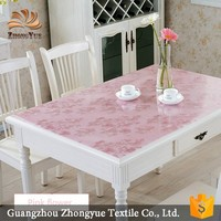 Wholesale square printed flower style PVC tablecloth for restaurant