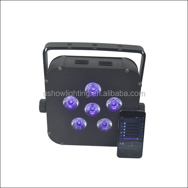 Battery Powered Flat LED PAR Light with Wireless DMX and 2.4G Wifi Control