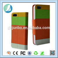 Colorful leather belt clip flip wallet case for iphone 5