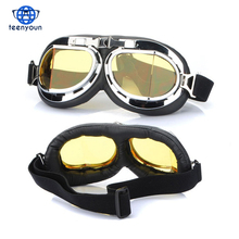 Hot Sale Steampunk Gothic Goggles Flying Scooter Helmet Glasses Cool Novelty Goggles Sports Glasses Cosplay Welding Wholesale