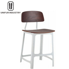 High cheap classic bar stools with backrest and footrest