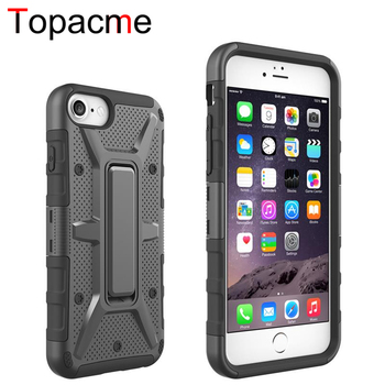 Heavy Duty Hybrid Holster Case Belt Clip shockproof stand phone case for iphone 7 plus