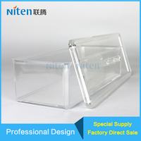 Square Acrylic Sweet Ornament Jewelry Display Case Stand