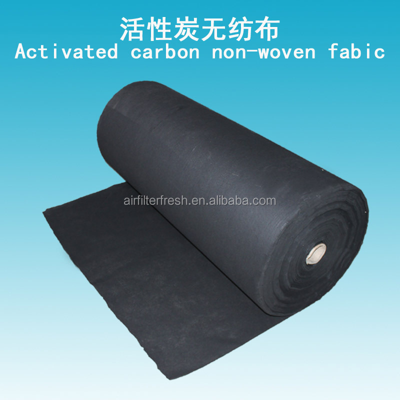 Industrial greenhouse carbon fiber non woven fabric activated carbon air filter media roll for face mask