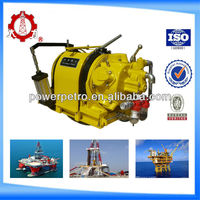 5t low base pneumatic air winch with automatic brake