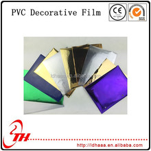 colorful decoration lamination PVC Film plastic film for packing