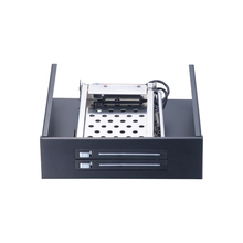 "SATA HDD Mobile Rack internal 2 Bay 2.5"" HDD Enclosure for CD/DVD-ROM location"