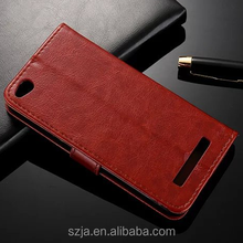 custom made mobile phone case wallet For Xiaomi Redmi 4A Flip PU Leather Wallet Stand Case Cover for redmi 4a