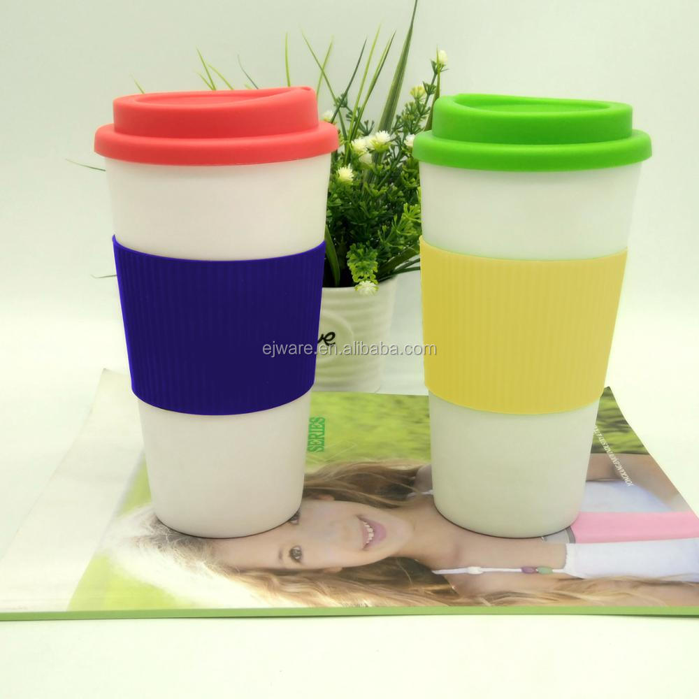 Eco-Friendly Travelling Mug BPA Free Double Wall PP Tumbler With Screw Lid