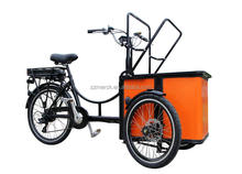 Factory Made Custom Color Front Box 3 Wheel Small Mini Cargo Bike Kids Taxi Bike