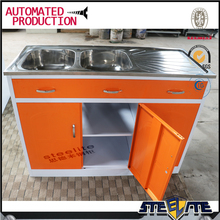 Cheap prices sri lanka double bowl stainless steel kitchen cabinet ready made kitchen cabinets with sink