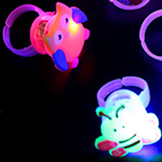Flashing Colorful LED Light Up Rings Finger Toys for Parties Event Favors