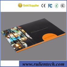 Hot sale 5 inch blue picture video lcd business card video brochure for advertising
