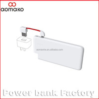 G016 consumer electronics power bank bulit-in micro cable ultra 4000mah battery charger