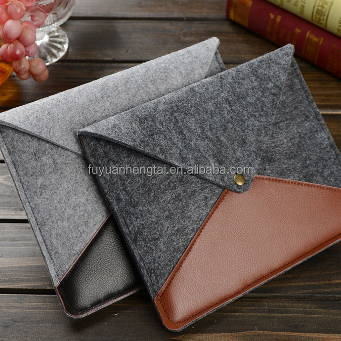 Eco-friendly felt laptop sleeve, felt protective sleeve for portable computer, felt laptop case.
