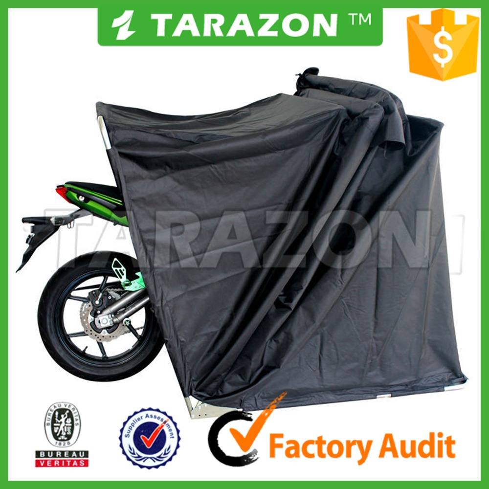 High performance waterproof polyester folding tent cover for motorcycle
