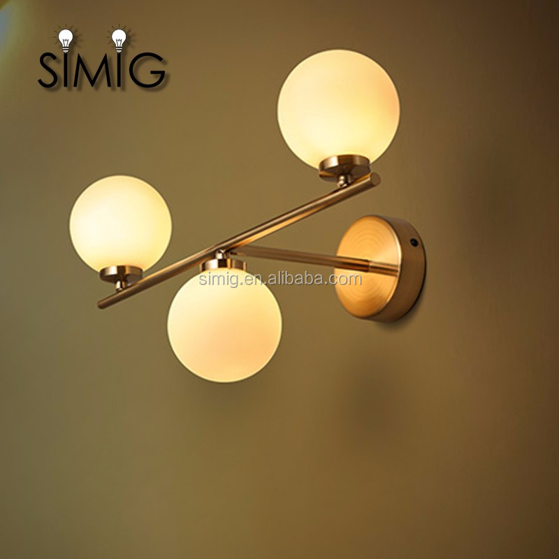 vintage style Popular simple elegant decorative led double wall lamp