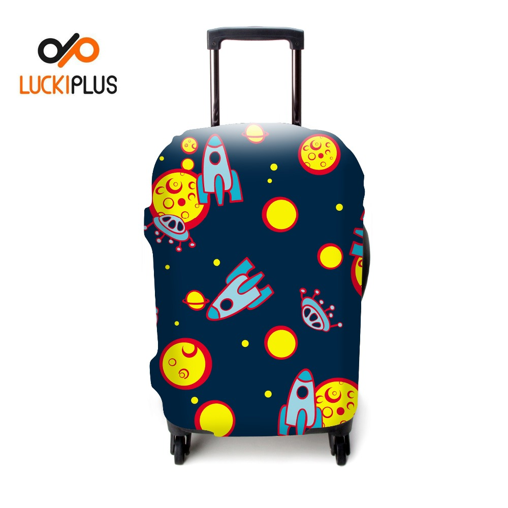 Luckiplus Galaxy Pattern Suitcase Cover Protective Trolley Case Cover