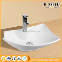 China supply modern countertop ceramic hand wash vessel sink