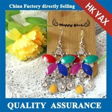 W1103 colorful dangle butterfly earrings,dangle butterfly earrings wholesale,big dangle butterfly earrings
