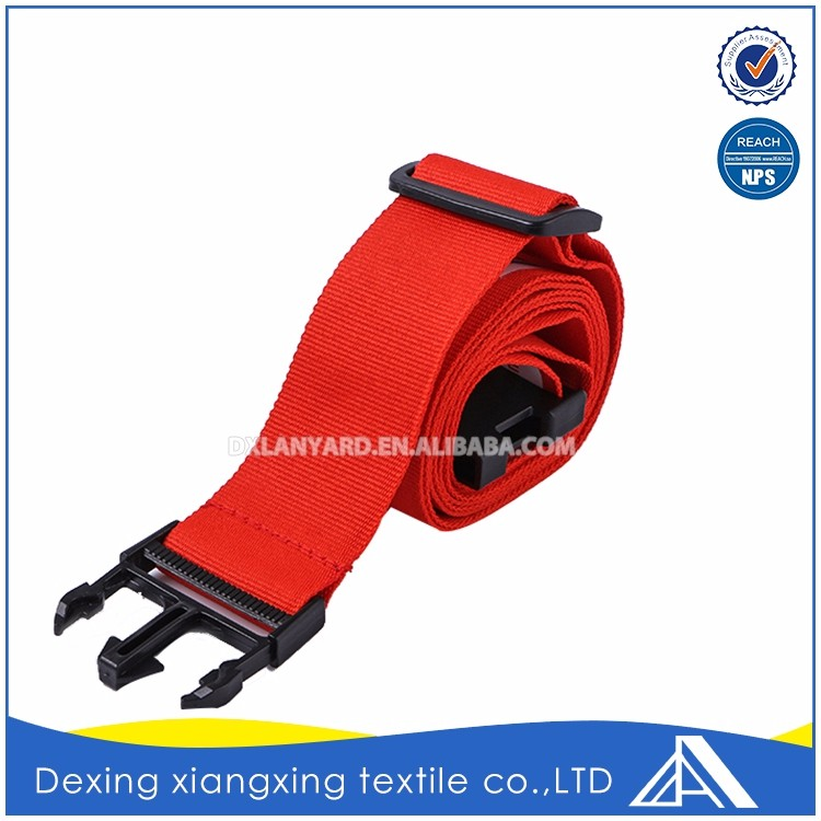 Special customize oem red top quality novelty name combination luggage strap