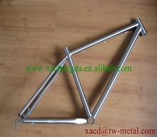 titanium bicycle mtb bike with normal specs and handing brush finished chinese titanium mountain bike frame with high quality