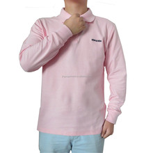 men' s 100% cotton long sleeve polo t - shirt