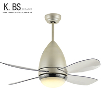 Modern Loft Style Celling Fan 4 Plastic Blades AC DC Motor Retractable Ceiling Fan Light