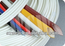 1.0mm&4000v Colored Silicone Rubber Coated Fiberglass Tubing