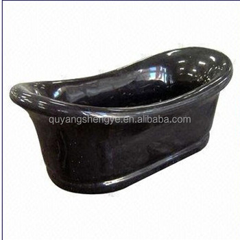 High Polished Cheap Black Marble Stone Bathtub For Sale