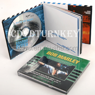 hardcover books printing cd replication with clear cd tray