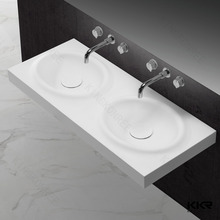 Wall mounted wood modern bathroom vanity basin and sink