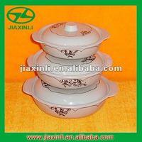 3pcs Melamine Lid Bowl Set