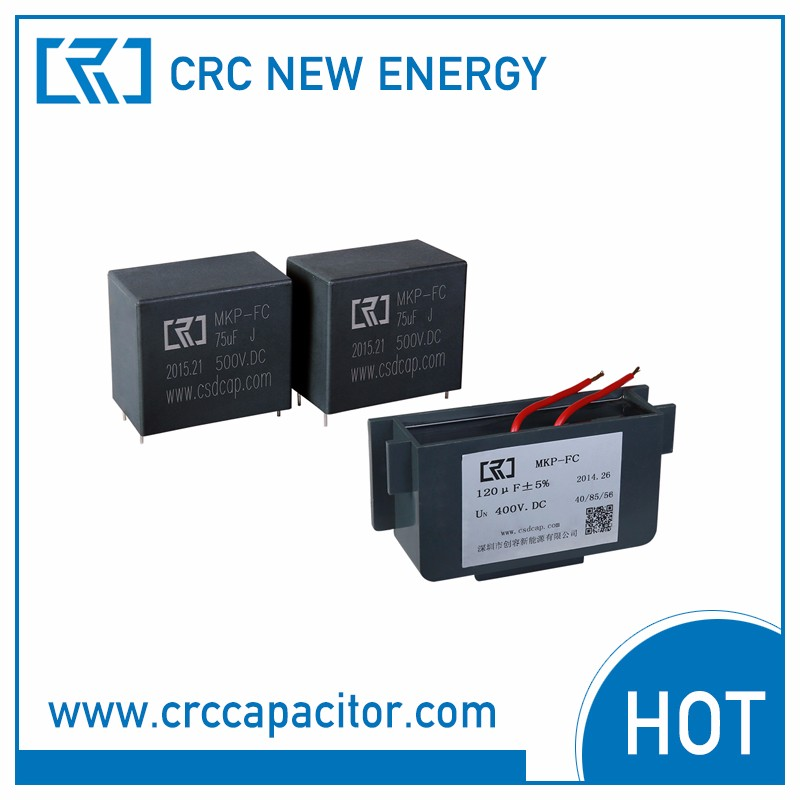 DC Link capacitor used on solar wind power inverter, EAS system, ranging from 8uF to 100 uF, 450vdc to 1100vdc
